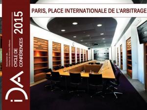 Conférence – Paris, Place Internationale de l'Arbitrage